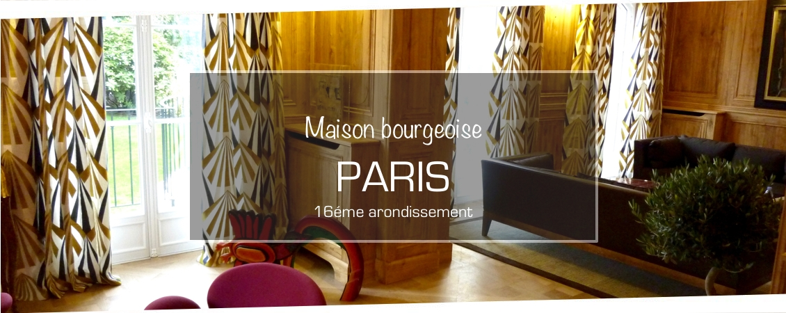D coration interieur maison paris tapissier d corateur bruno fidone au fil des mati res - Maison ancienne bourgeoise paris vi ...